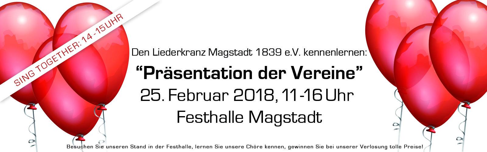 Einladung Liederkranz Magstadt Präsentation der Vereine